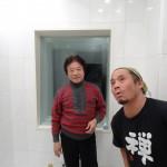 With Akikazu Nakamura in his recording studio, Tokyo