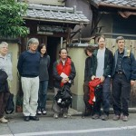 Group photo in front of Kurahashi Yodo home in Kyoto