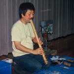Kinya Sogawa giving us a shakuhachi construction workshop