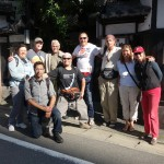 Group photo in front of ryokan in Hakata, Fukuoka