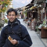 Dominic enjoying walking around Matsumoto City, Nagano
