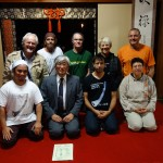 Group photo with grand master, Kurahashi Yodo II at Meian-ji, Kyoto