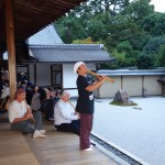 Playing at Ryoanji, Kyoto